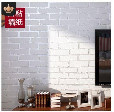 Self Adhesive Non Woven Brick Wallpaper Modern Mediterranean Style Clothing  Storefront Dining Room White Brick Bedroom Wallpaper Canada 2019 From ...
