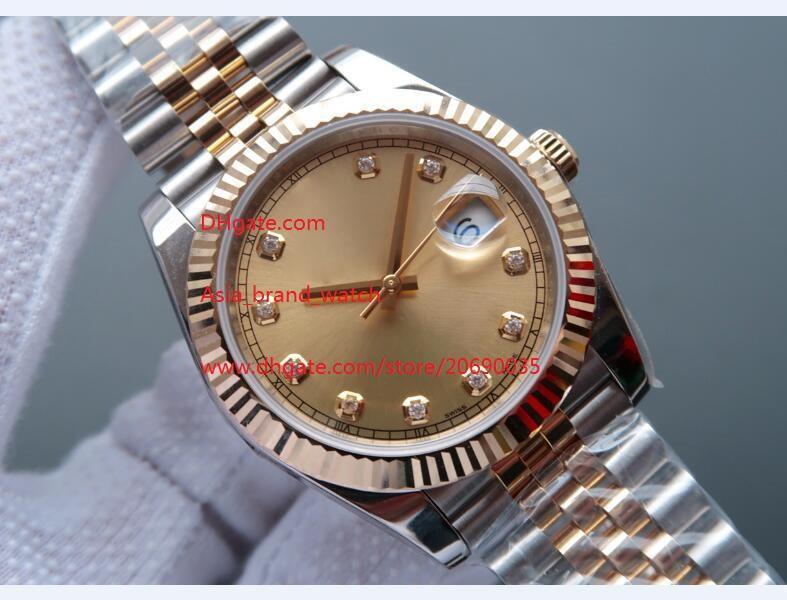 Бесплатная доставка завод поставщик роскошный Сапфир Алмаз 41 мм 126333 автоматические механические мужские мужские часы Наручные часы