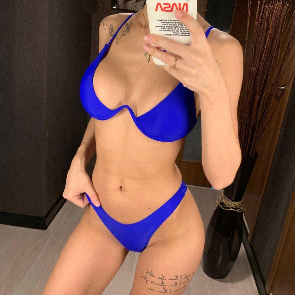 Mayo Kadınlar Tasarımcı Bikini Seksi V Bar Underwired Bikini 2019 Bikini Kadınlar İki Adet V şekli Tel Bikini Seti Yüzücü Yıkanma V439