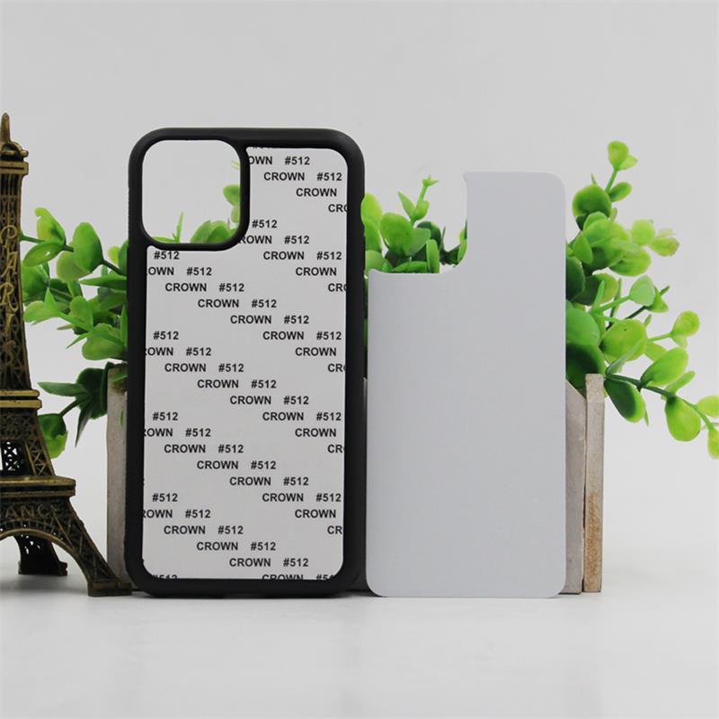 Custodia in silicone in silicone da 50pcs ordine misto per iPhone 11 7 Plus copertura di trasferimento di calore stampato vuoto per iPhone x XR con alluminio