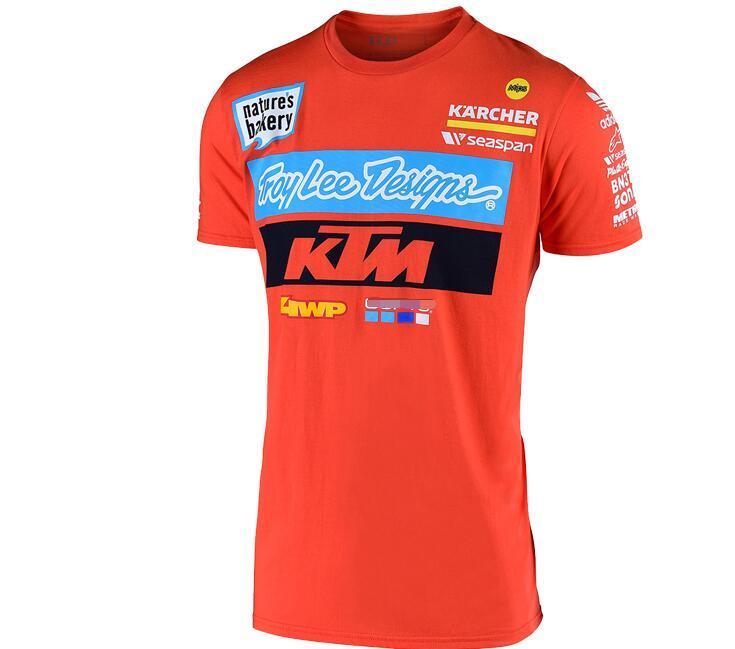 KTM الصيف الجديد MOTO GP دراجة نارية على الطرق الوعرة وركوب المشجعين تي شيرت عارضة قصيرة الأكمام KTM سباق تي شيرت الرجال