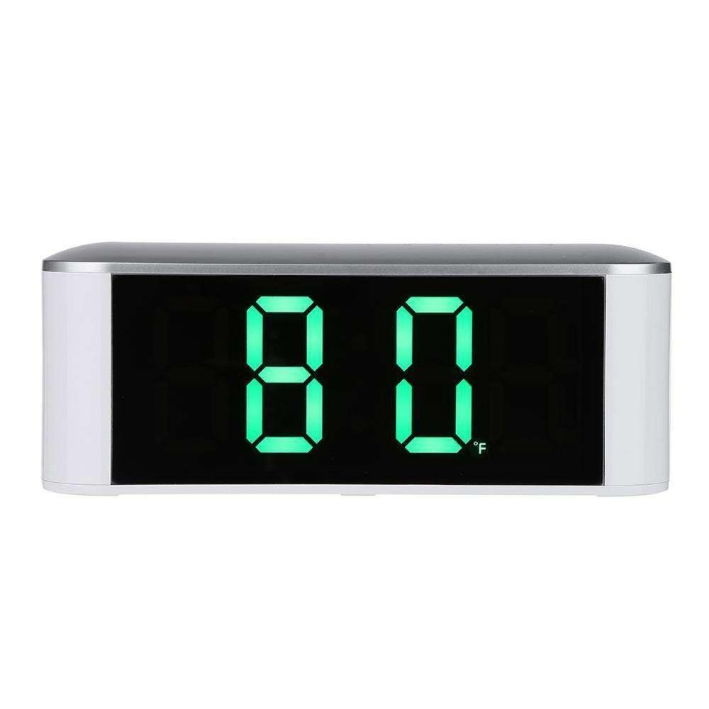 Table Desk Digital Clock Big Led Temperature Display Snooze New Home Led Electronic Mirror Clocks With Thermometer Creactive Y19062103