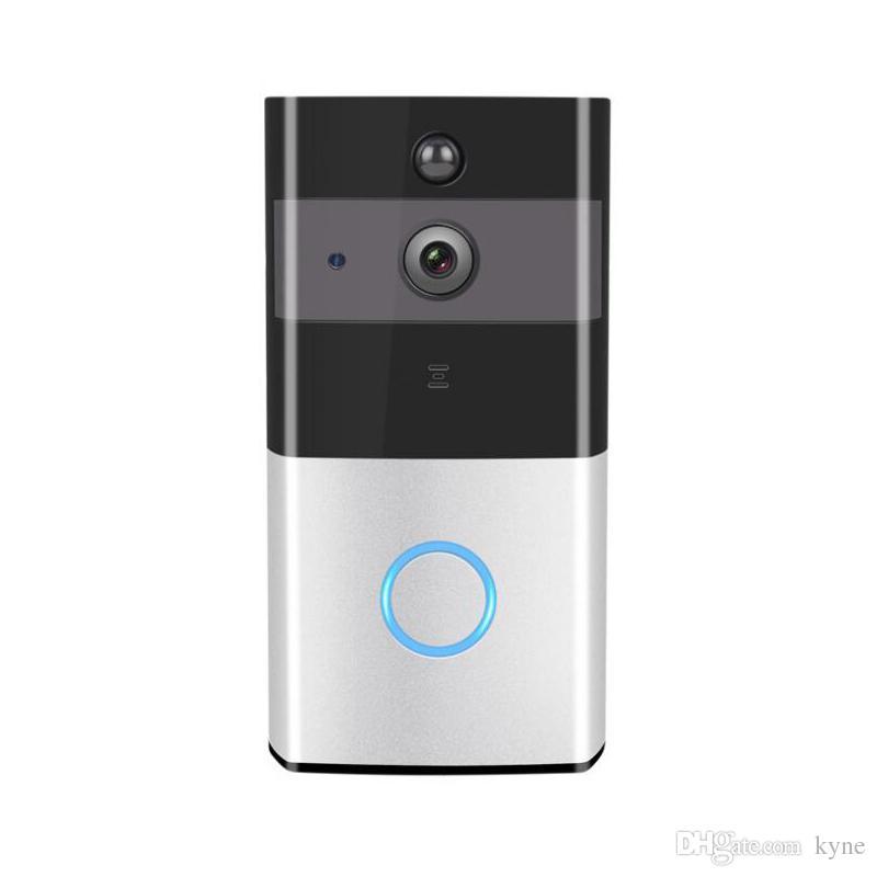 2019 Yeni Kablosuz Akülü Akıllı Kapı Zili Kamera Akıllı Video Kapı Zili Visiable Kapı Bell