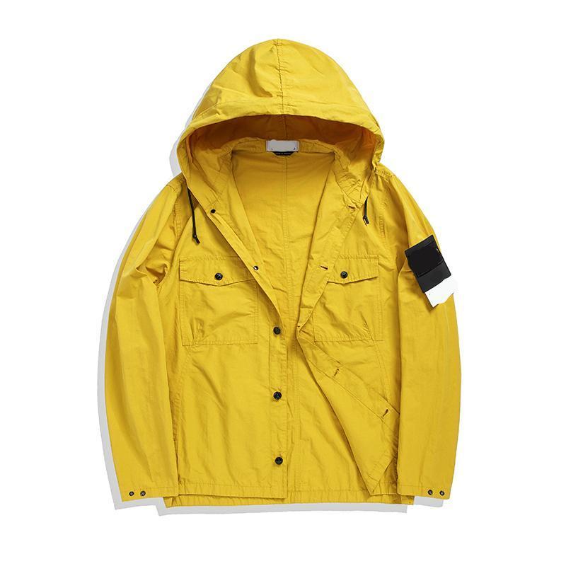 CP의 topstoney 해적 회사 2020 konng gonng 새로운 패션 브랜드의 높은 품질 후드 자켓 봄과 가을 얇은 트렌치 코트
