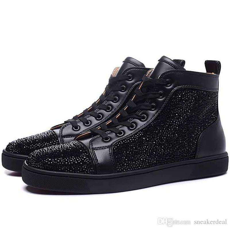 Top Designer Rosso Bottoms Sneakers con borchie Spikes Flats Shoes Designer Bottom Red Bottoms For Men Women