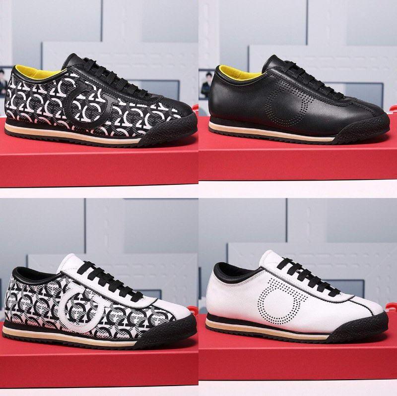 Designer atmungsaktive Ferragamo Mesh-Männer Plattform-beiläufige Schuhe Sport flache hohe Qualität Turnschuh-Trainer Wandern Laufschuhe Größe 38-45