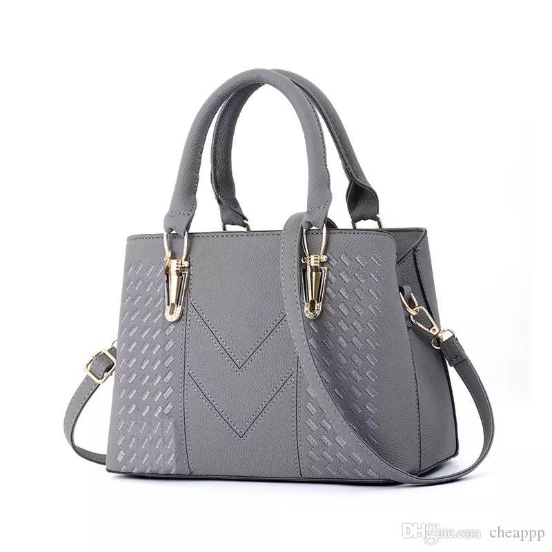 Markendesigner-Art und Weiseschulter-Einkaufstasche sackt Frauen PU-Handtaschengeldbeutel ein