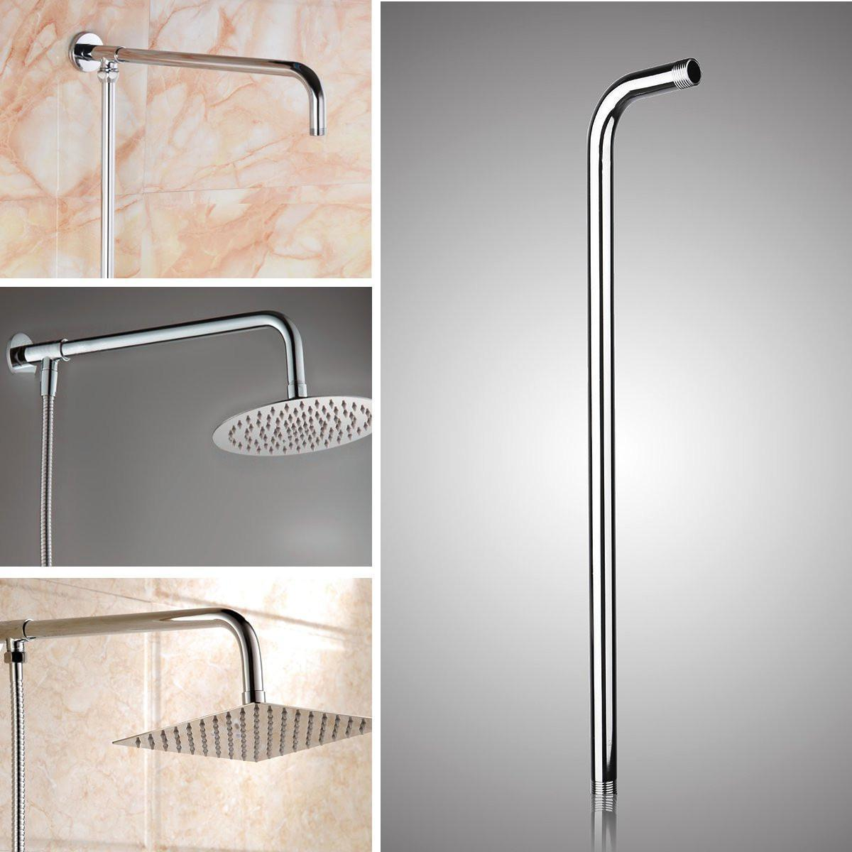 2019 24inch Wall Mounted Stainless Steel Shower Extension Arm For Rainfall Shower Head Arms Bathroom Tools Accessories From Sunnysleepvip8 23 51