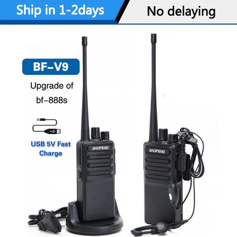 Walkie Talkie 2ST Baofeng BF-V9 Mini Walkie Talkie USB Fast Charge 5W UHF 400-470MHz Ham CB Radioset uv-5r Woki Toki