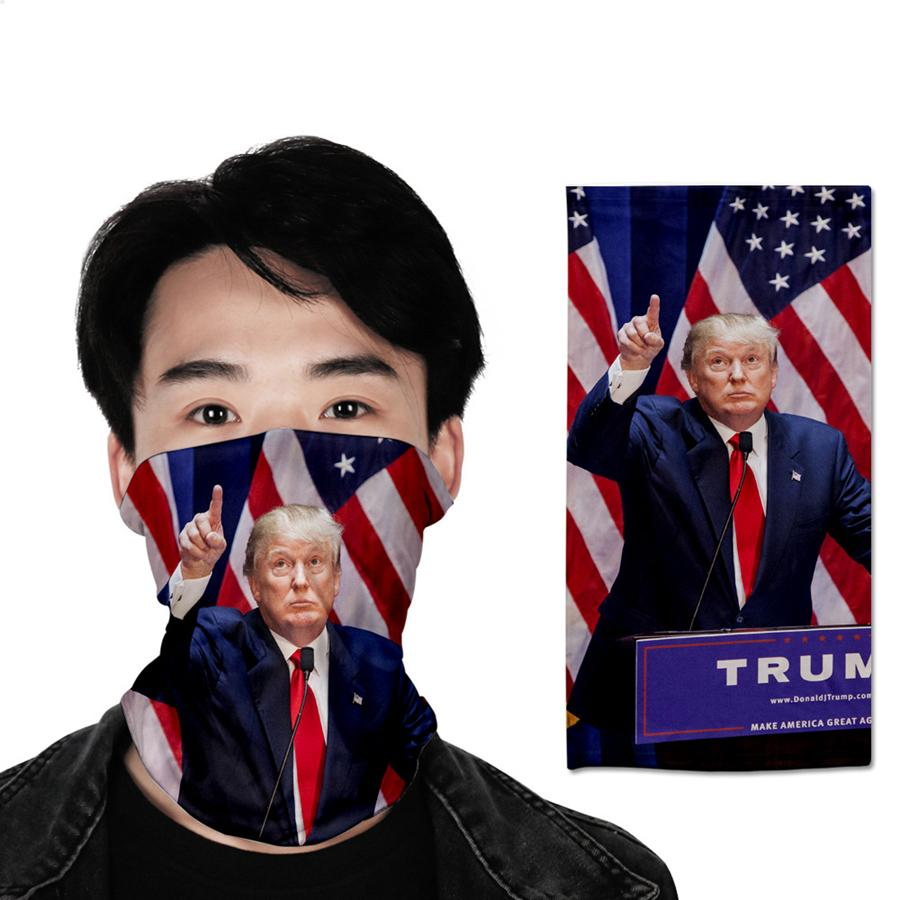 Trump sciarpa magica Mask 40 stili 3D stampato 25 * 45cm multifunzione Ciclismo Arrampicata Maschera di corsa esterna LJJO7858