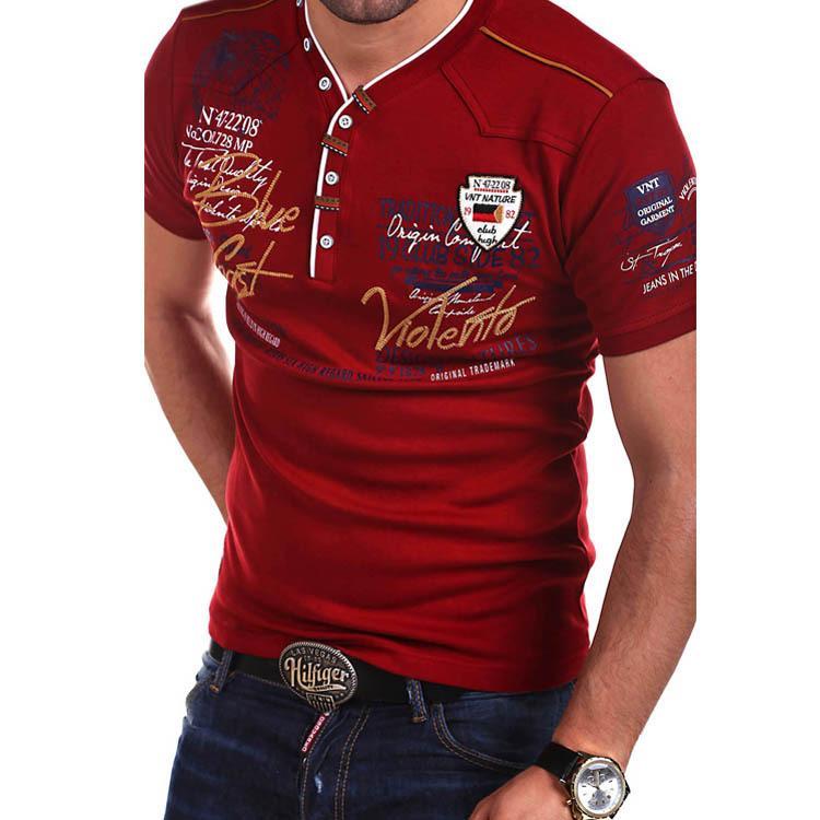 Erkek Tasarımcı T Gömlek Moda Erkek İnce Tees Casual Harfler Gömlek Erkek Avrupa ve Amerikan Tarzı Tişört Baskı 4 Renk Boyut S-3XL