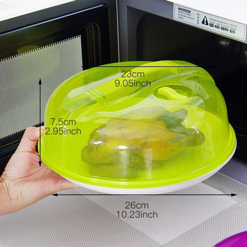 Kunststoff Koch- und Backzubehör Verschlussdeckel Lebensmittel frisch Deckel Kühlschrank Mikrowelle Ofen Deckelplatte Dustpoof Abdeckung Küche Gadget