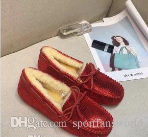 2019-20 Original WGG Pantofole scarpe casual donne del progettista castagna nero bianco rosso blu pelliccia pelle womens scarpe di misura 5-8