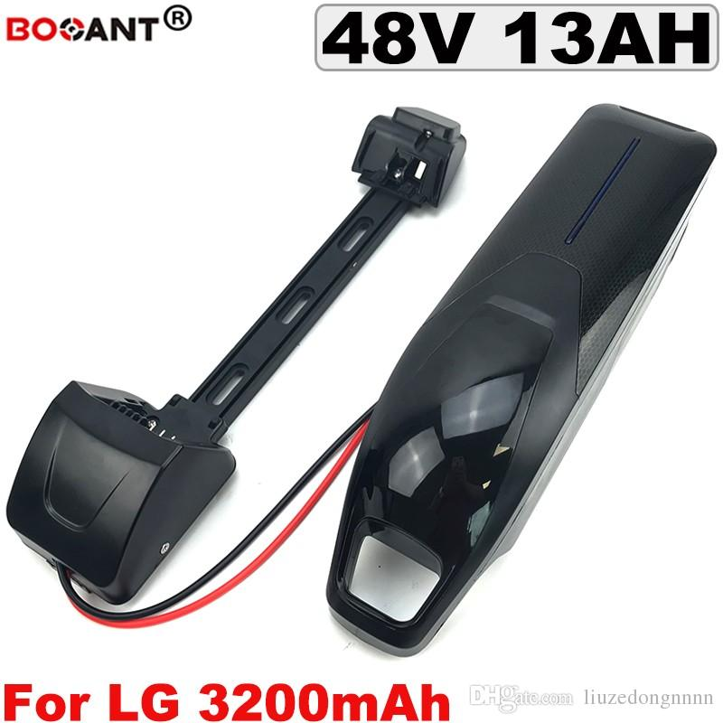 Wiederaufladbare elektrische Fahrrad-Lithiumbatterie 48V 13AH für ursprüngliches LG 18650 E-Fahrradbatterie für Bafang BBS 1200W Motor + 2A Ladegerät