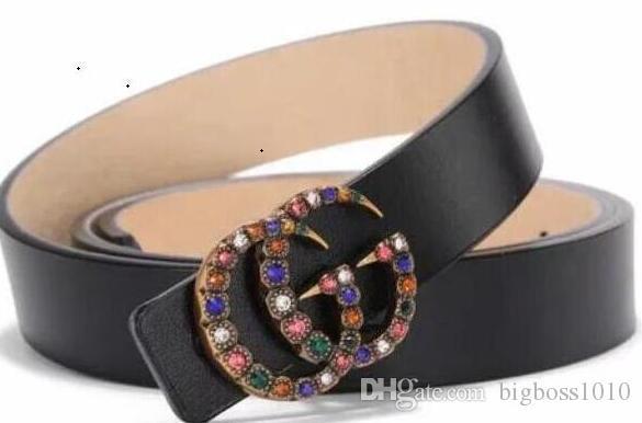 large ceinture de luxe de la ceinture de boucle d'or concepteur ceintures de luxe ceinture d'affaires en cuir pour hommes femmes