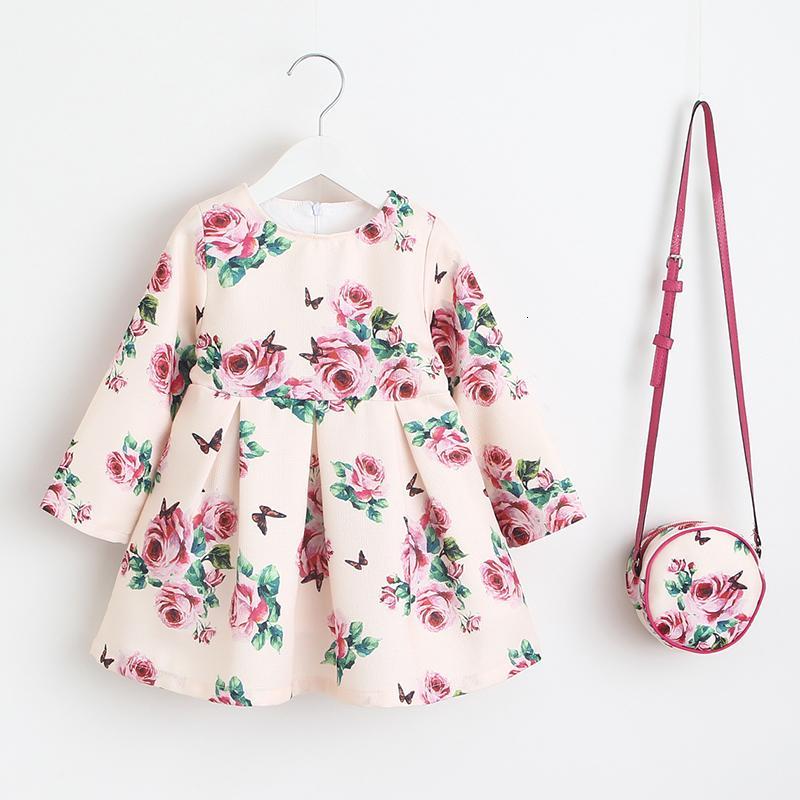 Girls Dress Unicorn Partido Crianças Roupa Princesa vestido com o saco 2018 roupa do bebê crianças Vestidos para meninas Costumes T191006