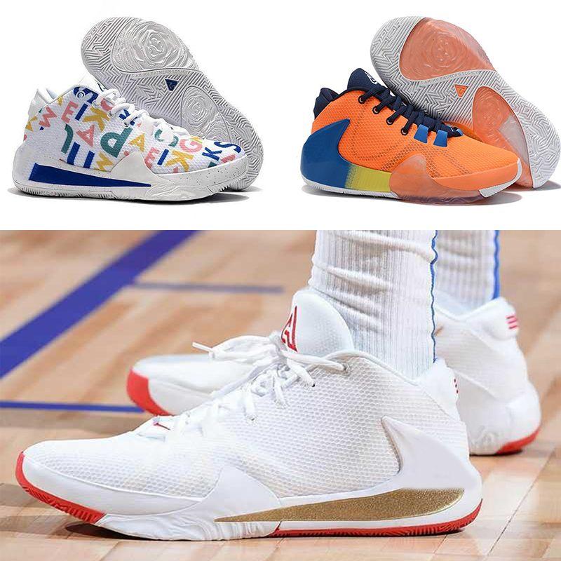 Giannīs Antetokounmpo Zoom Freak 1 Total Orange Foto Blu Midnight Navy firma scarpe da basket Sport Designer Sneakers EUR36-46
