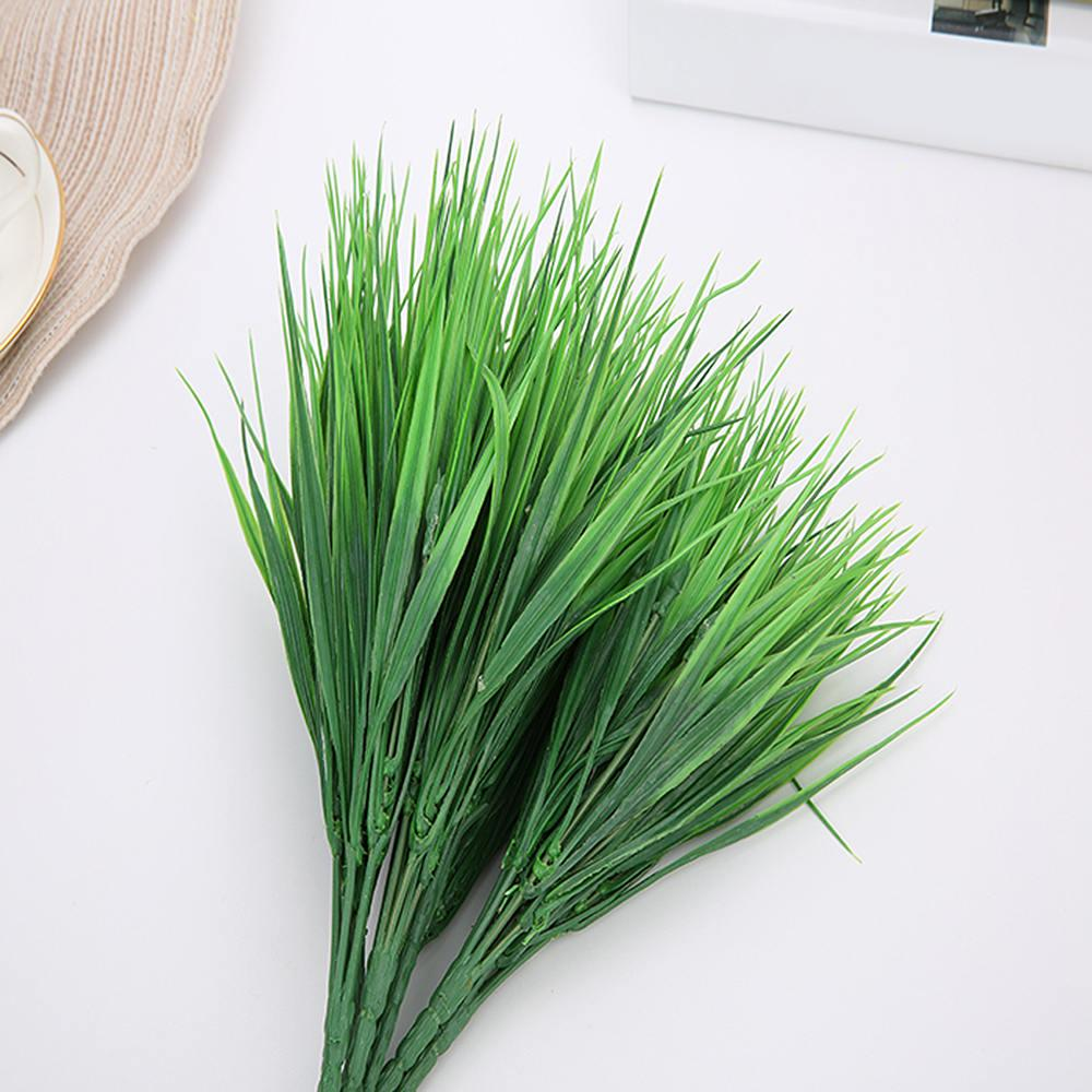 2020 Artificial Outdoor Plants Fake Plastic Greenery Shrubs Wheat