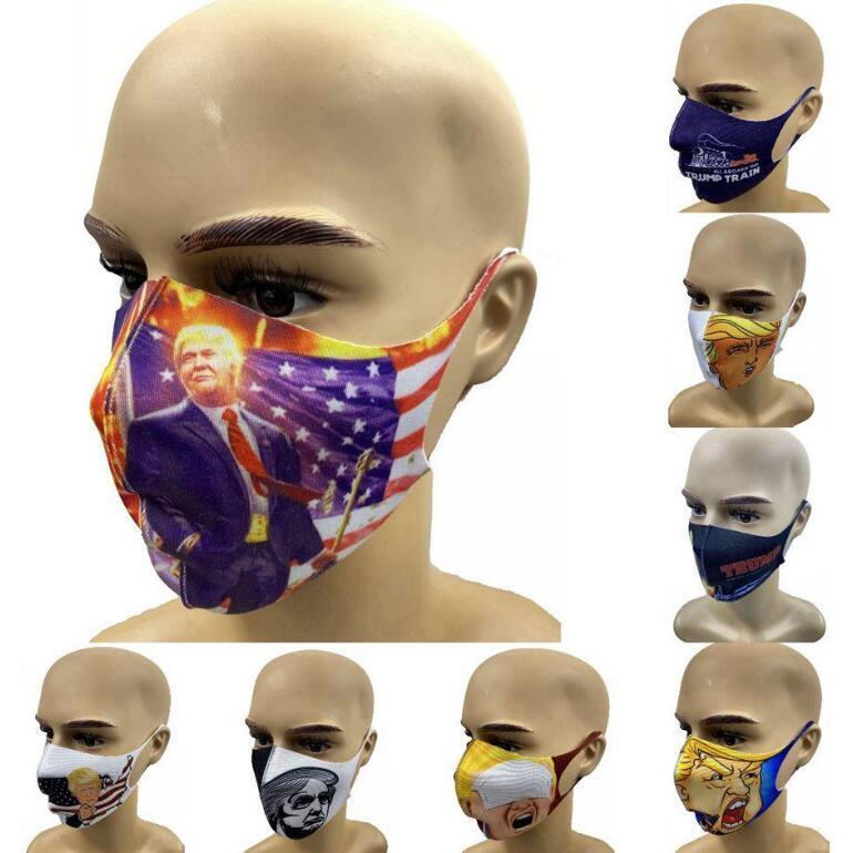 Trump Masques visage 9 Styles américain Élection anti-poussière coupe-vent Personnaliser 3D Imprimé extérieur Masque 200pcs OOA7882