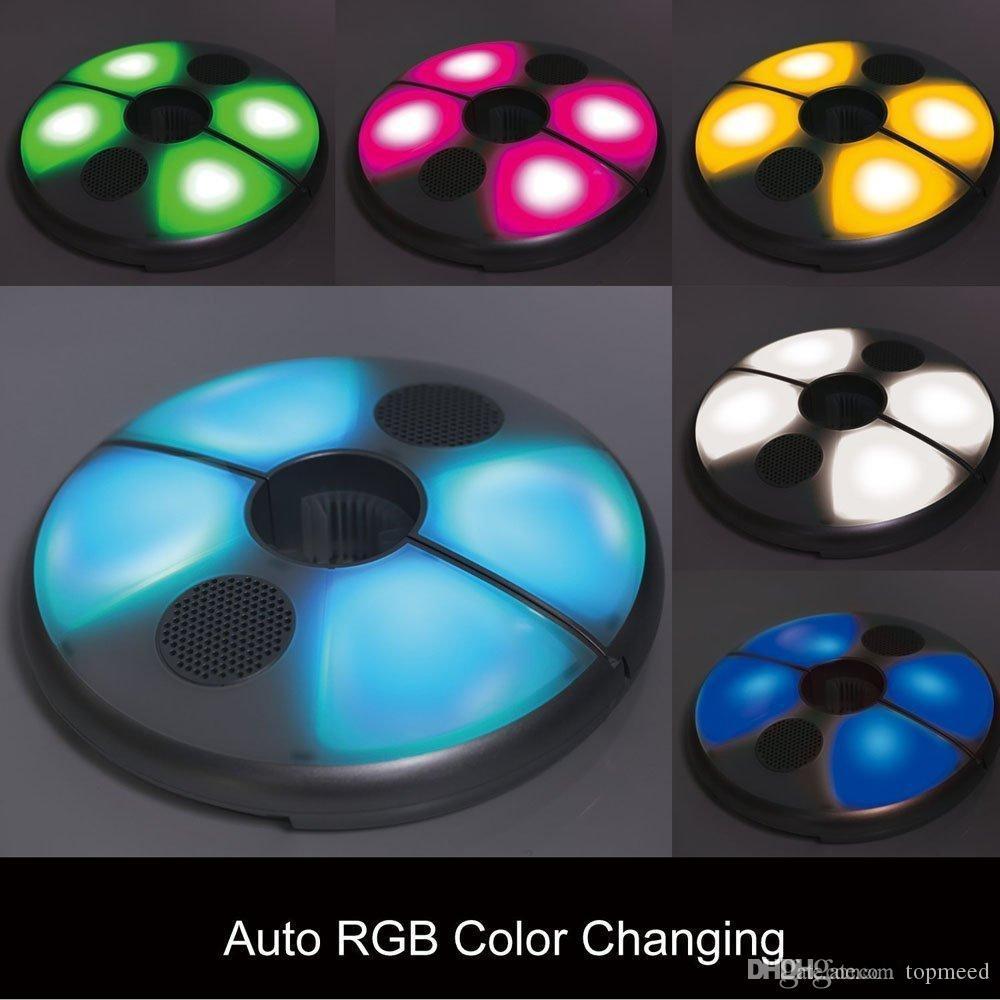 우산 빛 바닷가 안뜰 우산 음악 빛 48LED 5W Bluetooth 무선 스피커 똑똑한 재충전 용