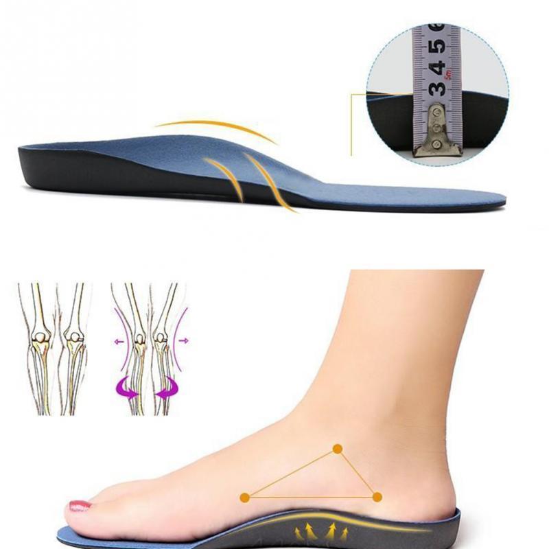 NUEVO 2019 zapatos de la ayuda de arco del amortiguador del cuidado de pies de inserción ortopédicas la plantilla para la salud del pie plano Sole Plantilla Para Pie plano