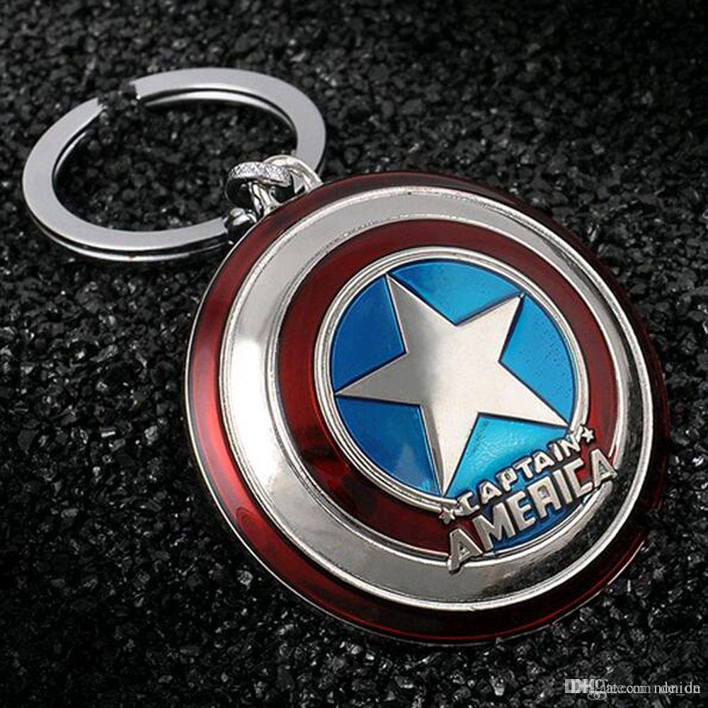 2016 neue heiße Marvel Super Hero Captain America Anhänger Schlüsselanhänger Schlüsselhalter llaveros Metall Avengers Cosplay Keychain Schmuck