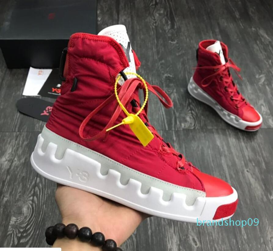 2019 NEW Kanye West Y-3 NOCI0003 Red White Black gray blue High-Top Men Sneakers fashion Genuine Leather Y3 Casual Shoes Boots 01