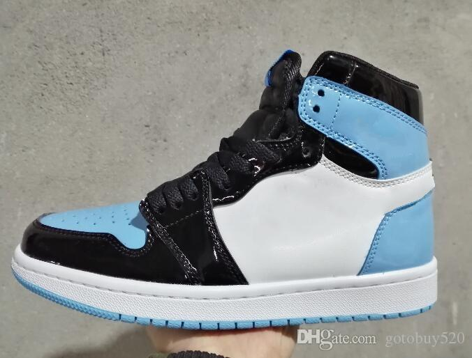 2020 new 1s high top Royal OG Court Purple white light blue black leather women men Outdoor shoes high quality cheap Shoes SIZE 36-47