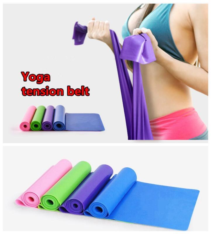 Frete grátis 150 centímetros bandas de resistência Yoga Pilates estiramento Resistência banda de exercício de treinamento de fitness # 2063 B1