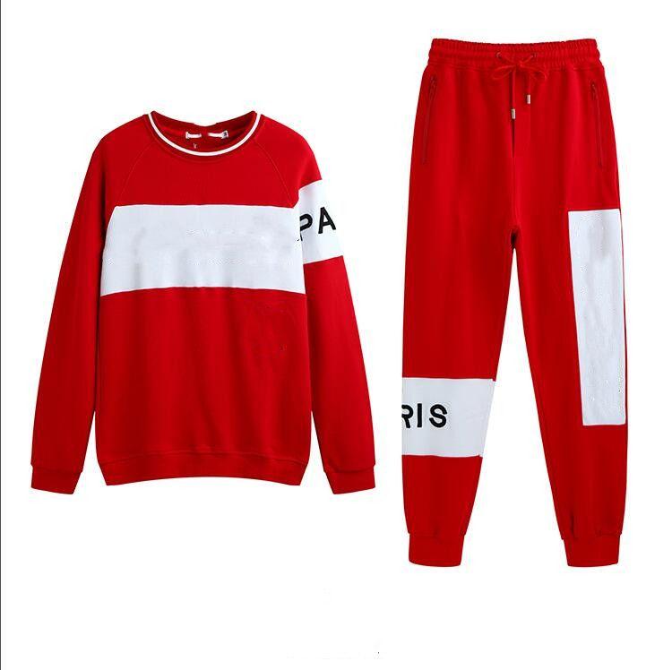 nouveau Printemps Automne Givenchy Nouveau Vêtements pour femmes Marque jeunes Manteau Casual sportswear costume noir et rouge Broderie 2 couleurs Tra