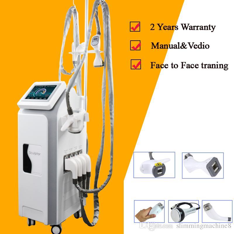 velashape máquina de adelgazamiento al vacío Velashape Vacuum RF Lipolaser + Estiramiento de la piel del rodillo que adelgaza la máquina V10 velashape ce