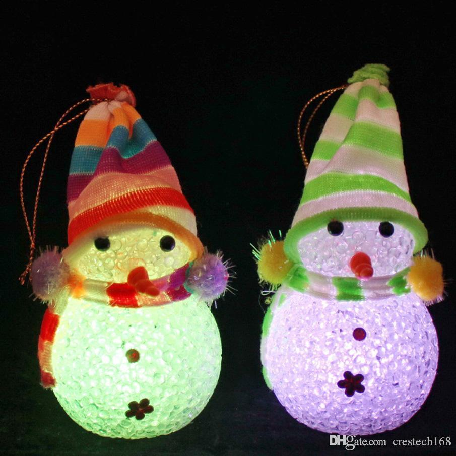 Colorful night light LED EVA christmas gifts Novelty Cute Glow Christmas Snowman EVA Beads Light Flash Xmas Party Desktop Decoration