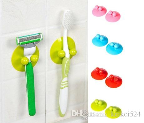 2Pcs Multi-function Vacuum Powerful Suction Cup Kitchen Bathroom Wall Hook Hanger Household Items Kitchen Towel Hooks