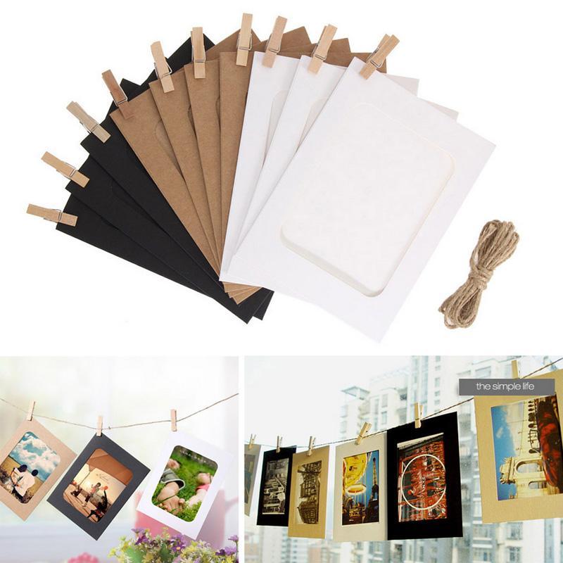 إطار الصورة للصور صور خشبية الإطار كليب ورقة صورة حامل زفاف ديكور الحائط حفل تخرج الصورة كشك الدعائم 10PCS