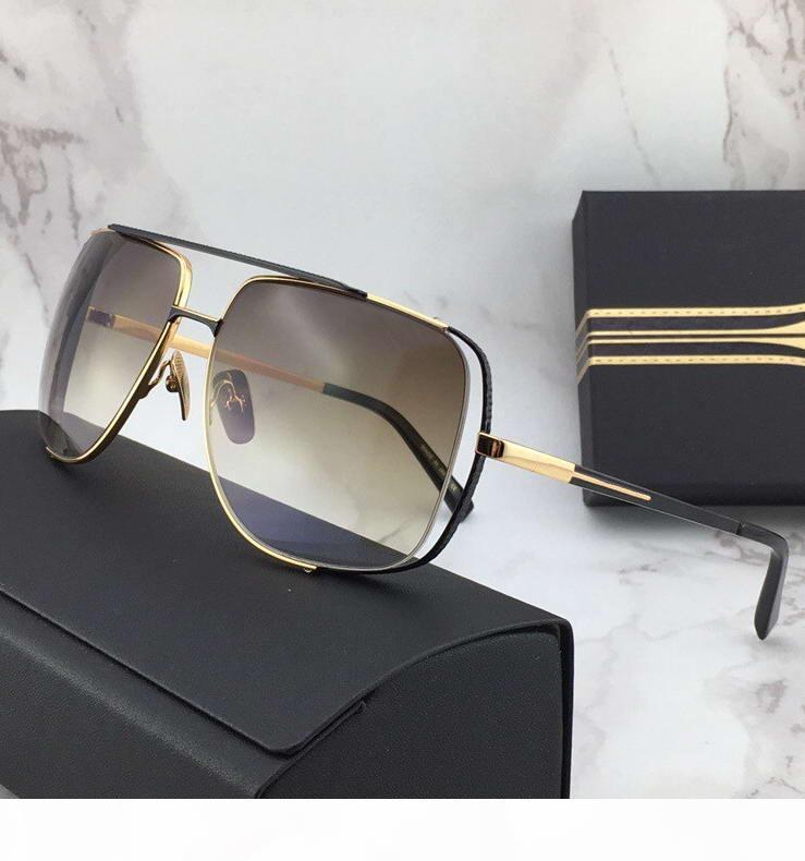 Мужчины полночь специальные солнцезащитные очки золотисто коричневые оттенки Sonnenbrille старинные вождения солнцезащитные очки дизайнерские солнцезащитные очки новые в коробке