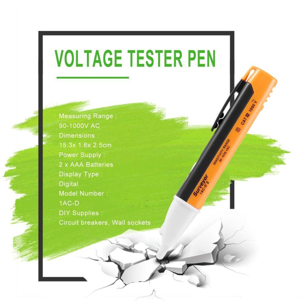 전기 테스트 펜 소켓 벽 AC 전원 콘센트 전압 검출기 센서 테스터 LED 조명 전압 표시기 90-1000V 전세계 가게