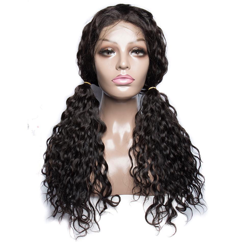 Бесплатная доставка фронт шнурка бразильских малазийский индийская завитые полный парик шнурок Remy девственница шнурок волосы фронт парики для чернокожих женщин
