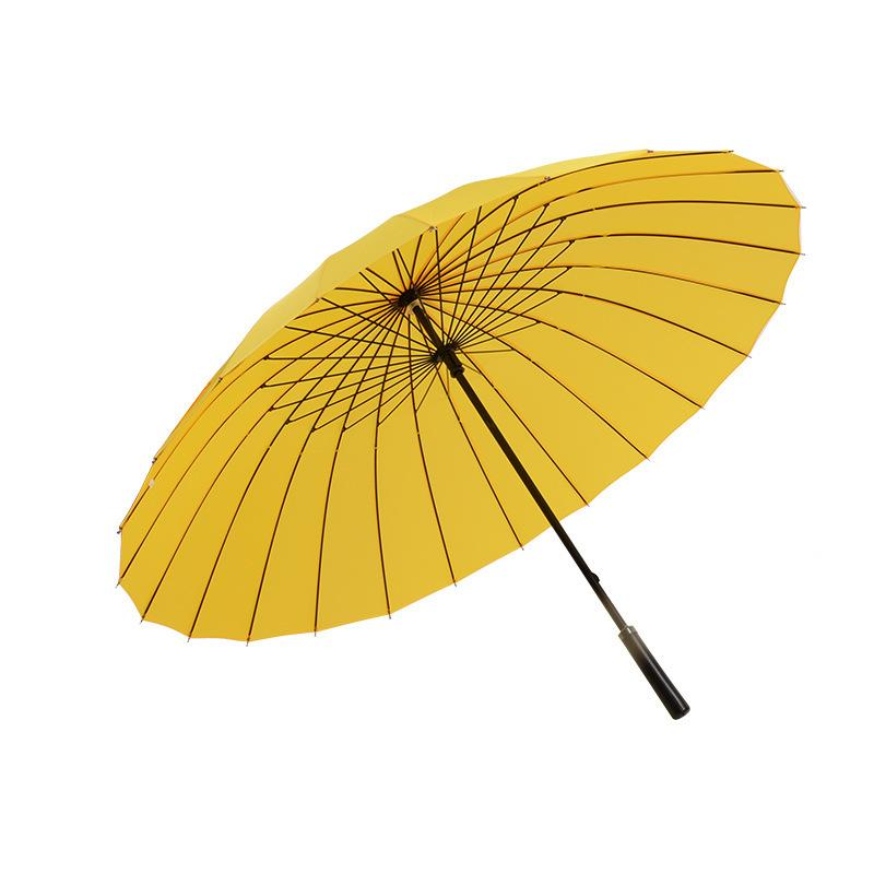24K كبير جلد رجل غولف الشمس Paraguas ملونة شمسية المرأة مظلة المطر المرأة صامد للريح ذكر المشي عصا المظلات Y200324