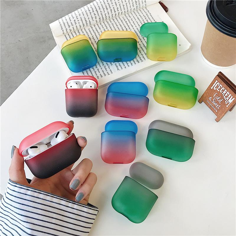 Nueva PC creativas del arco iris cajas transparentes para Airpods Pro de Apple Bluetooth Wireless Headset 12 de la generación 3 de Shell duro