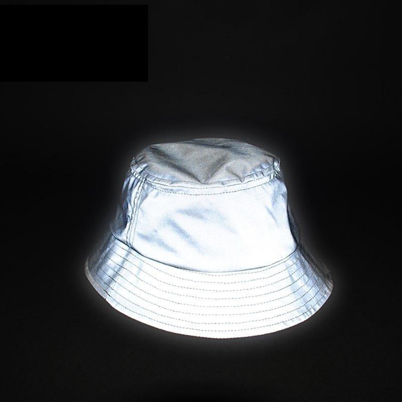Мужчина Женщины Мужская Светоотражающая Шляпа Светятся В Темноте Хип-Хоп Открытый Летний Пляж Рыбалка Солнце Ведро Шляпа Боб Шапо Шапки Wfgd809 Y19070503