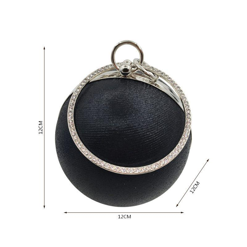 Designer-2019 Fashion evening bags women designer handbags luxury blue brand handbag ball shape women bag clutch bags for party