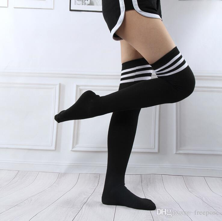 5 Pairs Fashion Thigh High Over Knee High Socks For Girls Womens Students Striped Cotton Warm Female Ladies Sexy Long Stockings 9 Colors #21