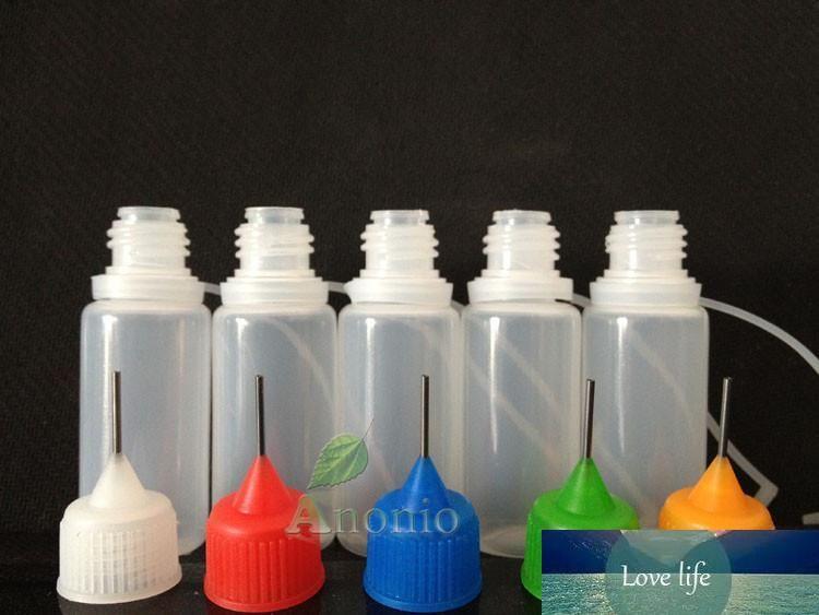 200PCS بالجملة، 5ML الزجاجات البلاستيكية إبرة زجاجة PE البلاستيكية القطارة مع نصائح المعدنية كاب E السائل إبرة زجاجة زجاجات فارغة