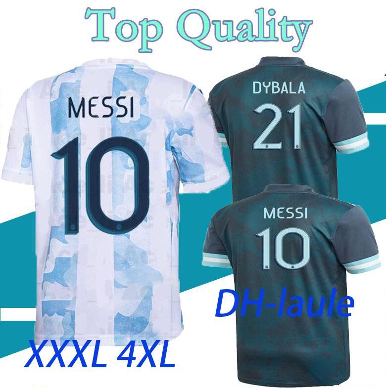 XXXL XXXXL 20 21 Argentina Home Messi Argentina Jersey 2020 2021 Homens Camisas de Futebol Higuain Icardi Kun Aguero Soccer Shirt S-4XL