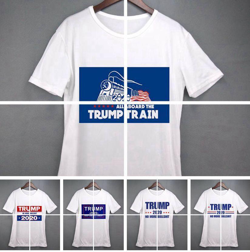 donne Donald Trump treno 2020 T-Shirt O-Collo manica corta USA Flag Tenere americana Grande lettera SUPERA IL T Shirt LJJA3834