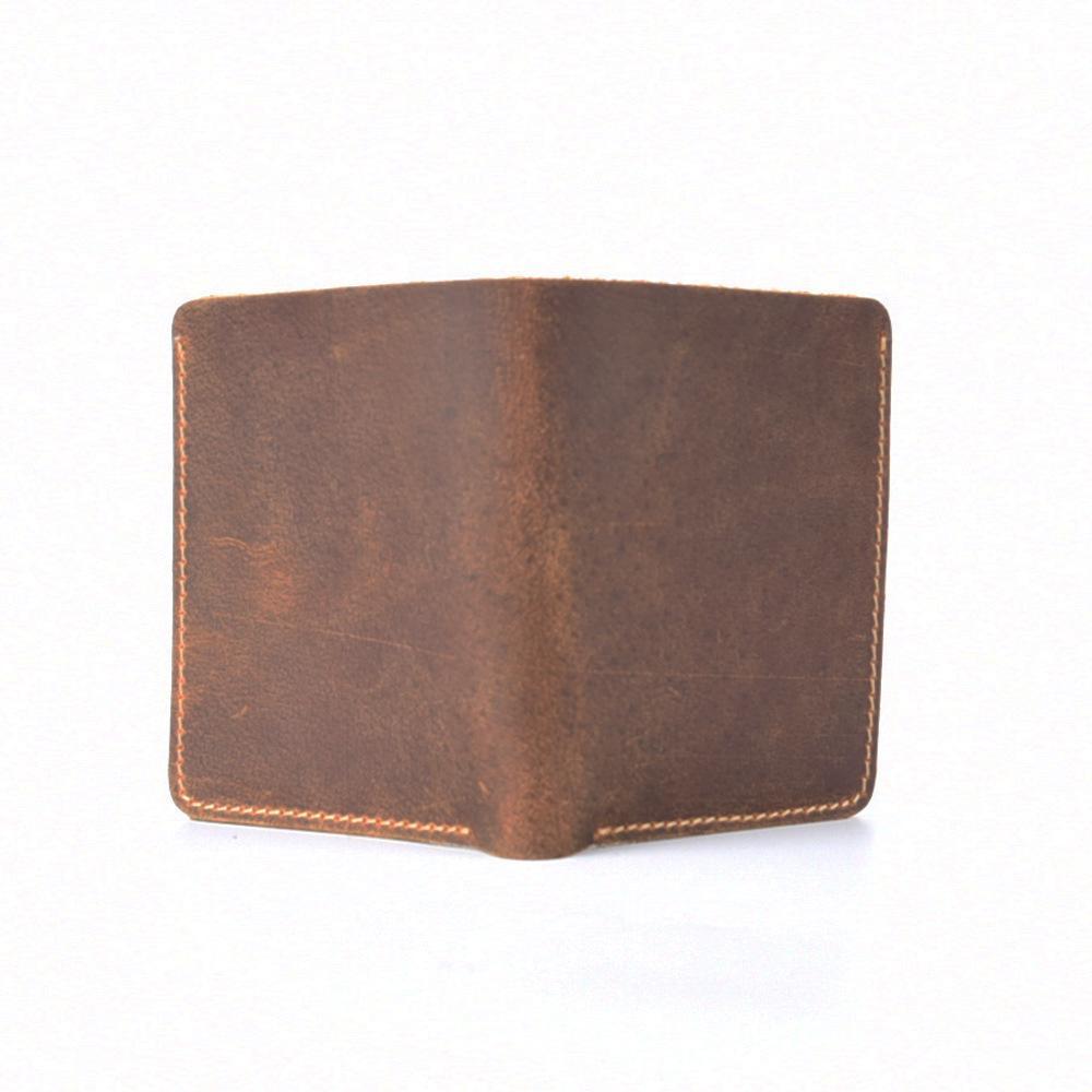 Breve stile della carta Genuine Leather del raccoglitore del supporto per il Passo della cassa del supporto Corti Marrone per proteggere