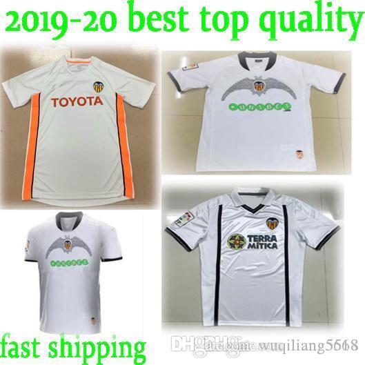 Melhor Qualidade Nova 2000 2001 2006 Valência Retro Jersey Home 00 01 09 10 Away Camisetas Angulo Inimmar Djukic Mendieta L.Milla Camisas de futebol