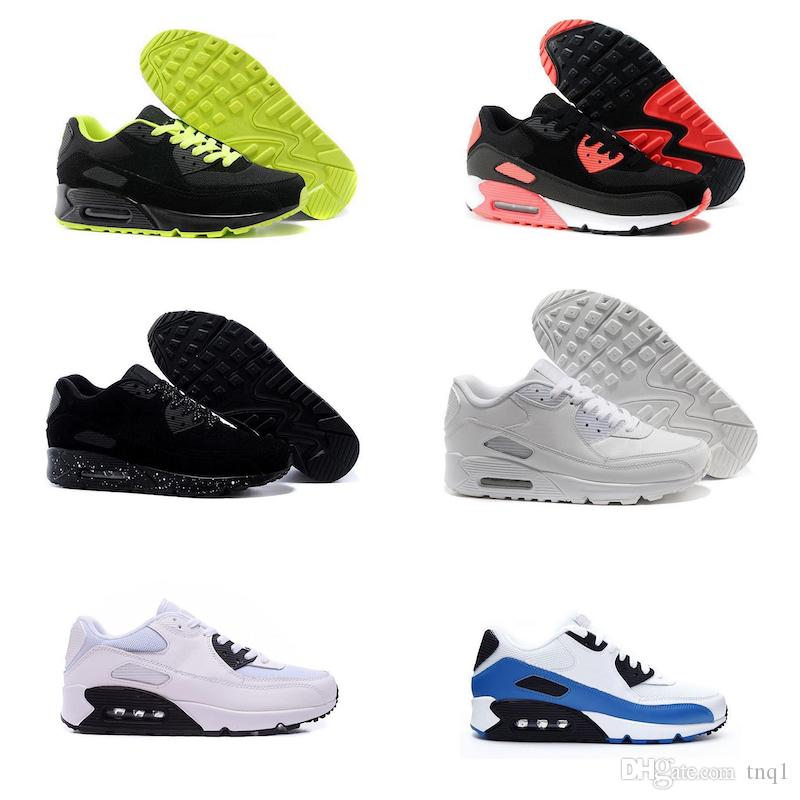 Nike air max 90 Kış Rahat Ayakkabılar Erkekler Süet Tasarımcı Ucuz Sneakers Eğitmenler Spor Siyah Beyaz Atletik Koşu Yürüyüş Açık Sonbahar Yürüyüş Ayakkabıları