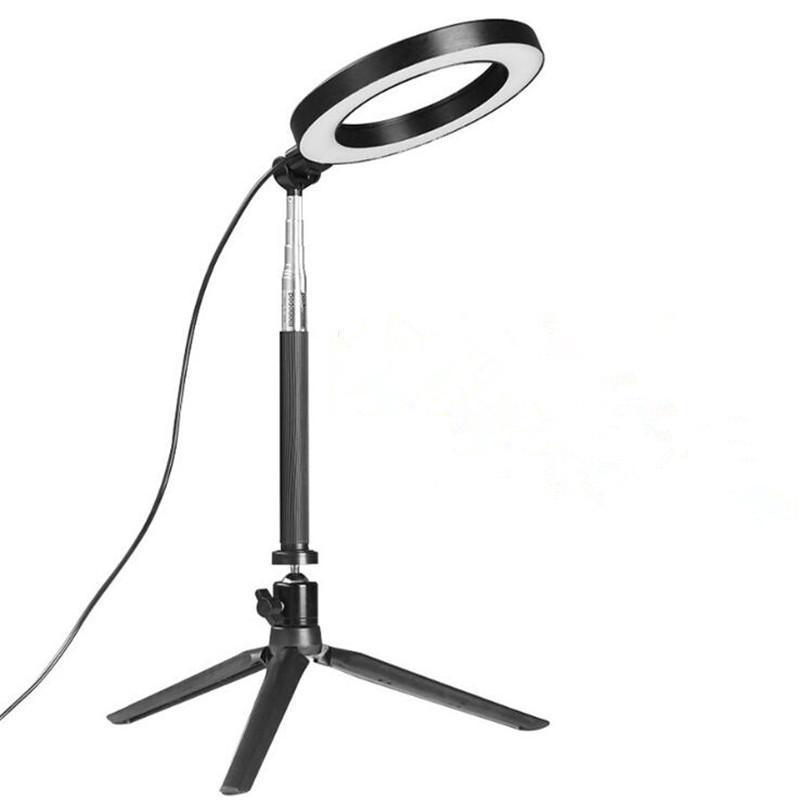 Luce Video Foto Studio dimmerabile Led Anello Camera Light Phone anulare della lampada Con Treppiedi selfie Stick anello di riempimento luce della macchina fotografica per Canon Nikon