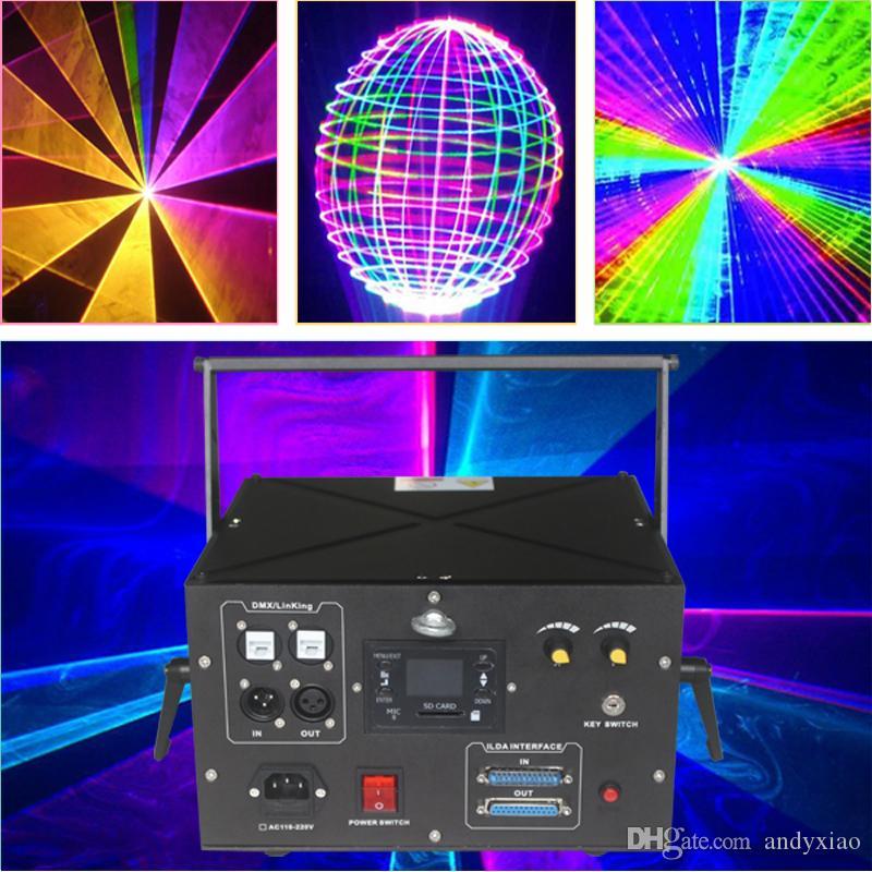 Laser mapeamento de alta potência 4,5 watt animação analógica RGB iluminação ao ar livre para discoteca e natal noite mostra